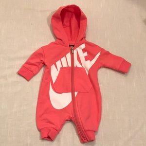 Nike Hoodie Onsie for Newborn Baby Pink
